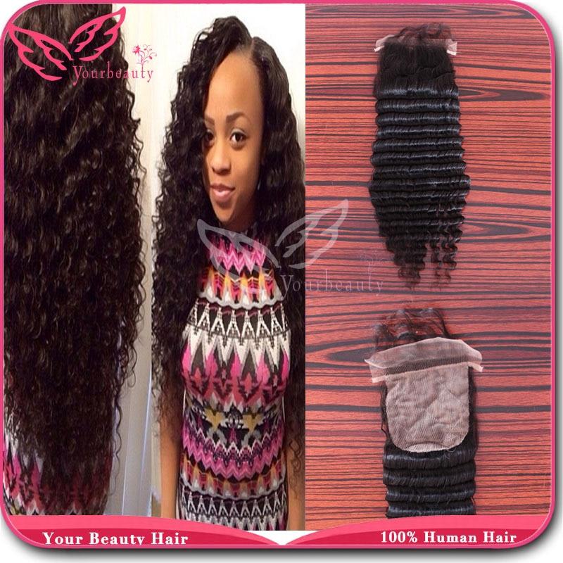 Silk Base Closure Brazilian Hair Deep Wave Virgin Hair 3 5 4 Free Part Middle Part Or 3 Part Closures Hidden Knots Free Shipping Hair Accessories Curly Hair Hair Bow Flowers Wholesalehair Products Hair Loss