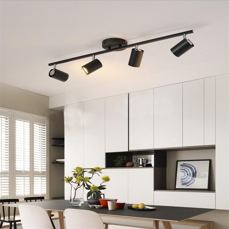 Черный белый Потолочный светильник освещение угол регулируемые точечные светильники GU10 Точечные светильники Лампа для магазина Шоурум освещение новое поступление Потолочные лампы      АлиЭкспресс