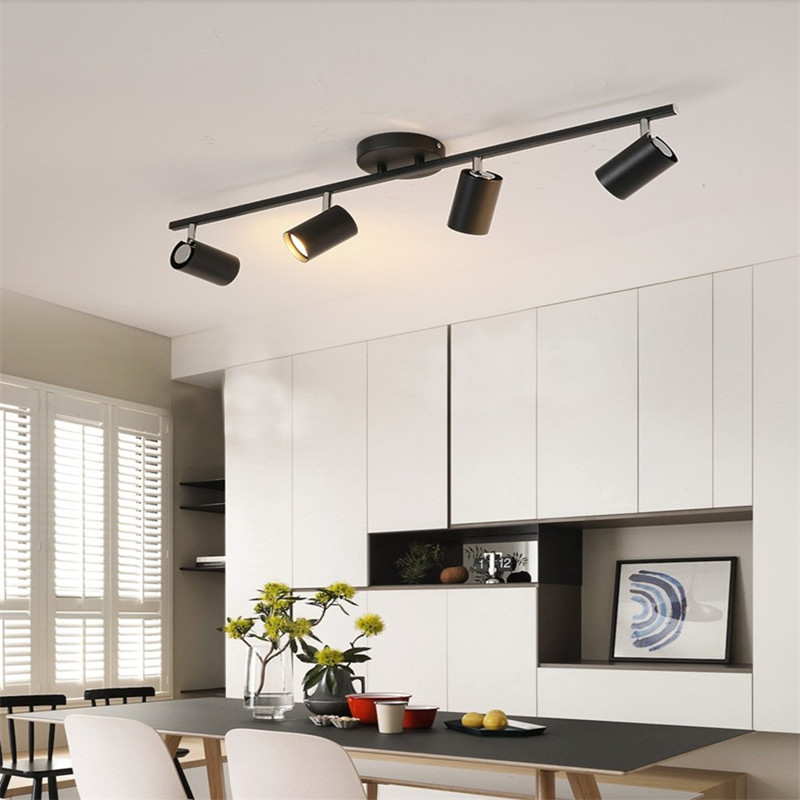 Black White Ceiling Lamp Lighting Angle Adjustable Spotlights GU10 Spot Lights Bulb For Store Shop Showroom Lighting New Arrival