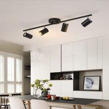Lâmpada de teto preto e branco, ângulo de iluminação ajustável, holofotes gu10, lâmpada para ponto, para loja, iluminação de sala de jantar, nova chegada
