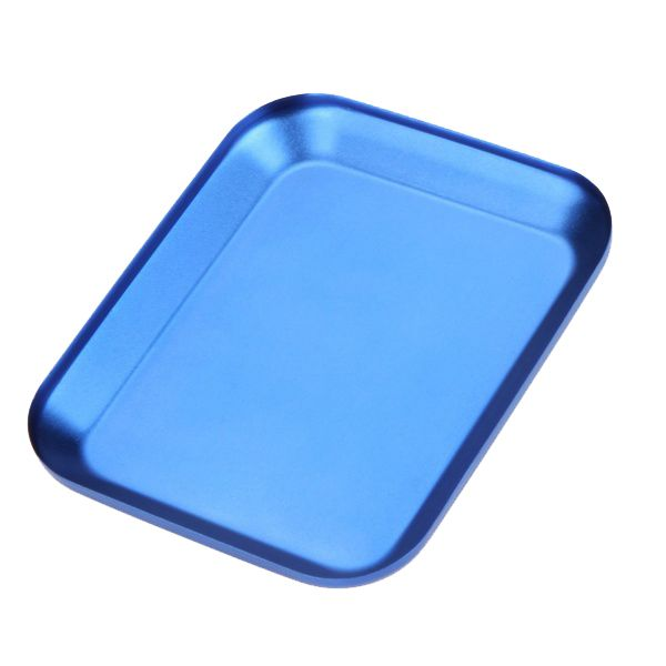 Useful Aluminum alloy Screw Tray with Magnetic Pad for RC Model Phone Car Repair Tool blue