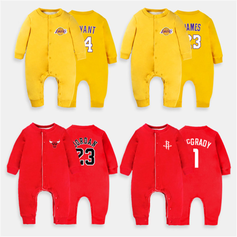 8078907b7bb113 Item  2018 Winter New Boy Clothing Plus Velvet Basketball Long Sleeve  Romper Baby Sport Clothes Jumpsuit Short Baby 0-24month Clothing