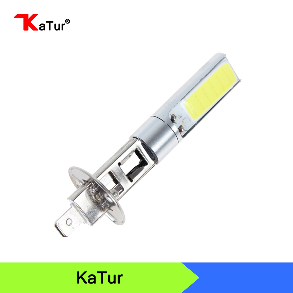 1 Pcs Car Styling 12V 10W High Power H1 COB LED Car Fog Light Bulb 6000K Super White LED Auto Car Driving Lamp Foglights DRL 2pcs h4 hb2 9003 cob 4 led white auto car driving light lamp bulb dc 12 24v 6000k xenon white car super bright car styling