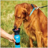 Newest Anti Spill Out Design Dog Feeding Water Bottle Outdoor Sport Travelling Kettle Bowl Drinking Plastic