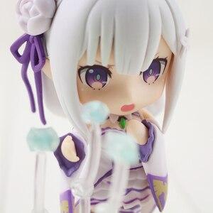 Image 5 - 10cm anime re: vida em um mundo diferente do zero emilia figura 751 q versão pvc figura de ação colecionável modelo de brinquedo