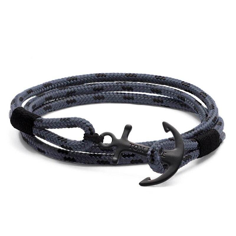 aço inoxidável corda âncora tom pulseira esperança com caixa e tag