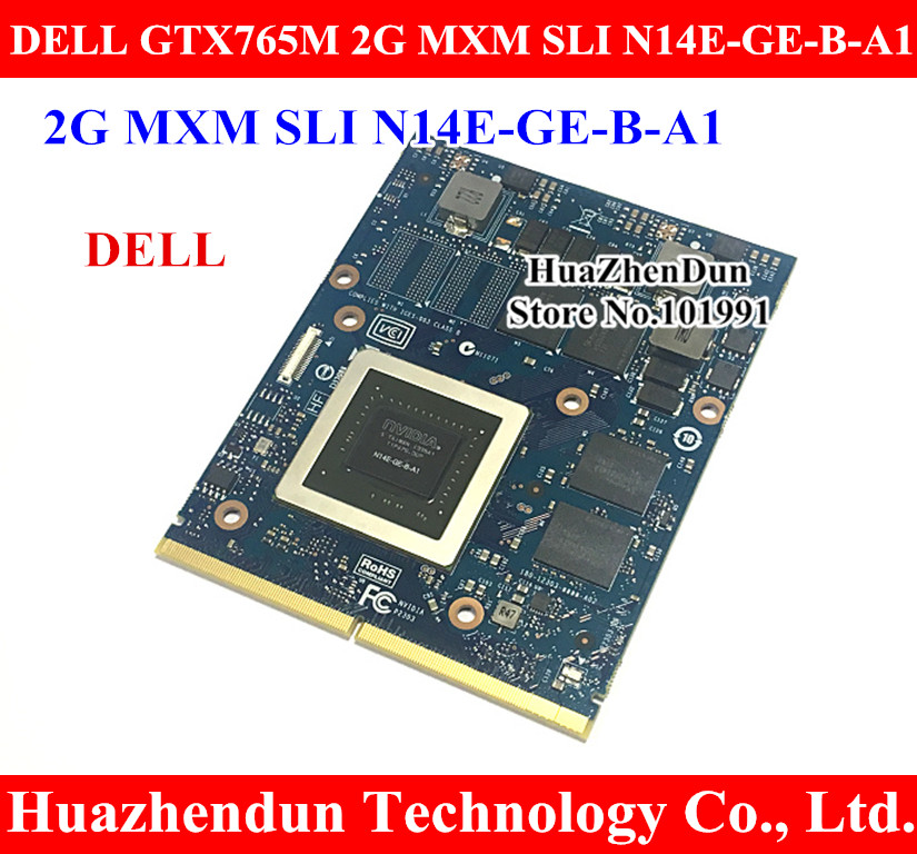 Original GTX765M 2GB Video Card for Dell Alienware M15X M17X M18X imac Laptop GTX 765 GTX765 Graphics Card N14E-GE-B-A1