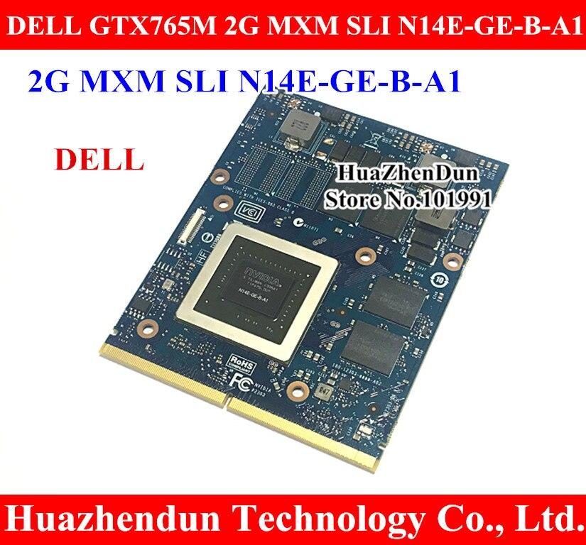 Original GTX765M 2GB Video Card for Dell Alienware M15X M17X M18X imac Laptop GTX 765 GTX765 Graphics Card N14E GE B A1