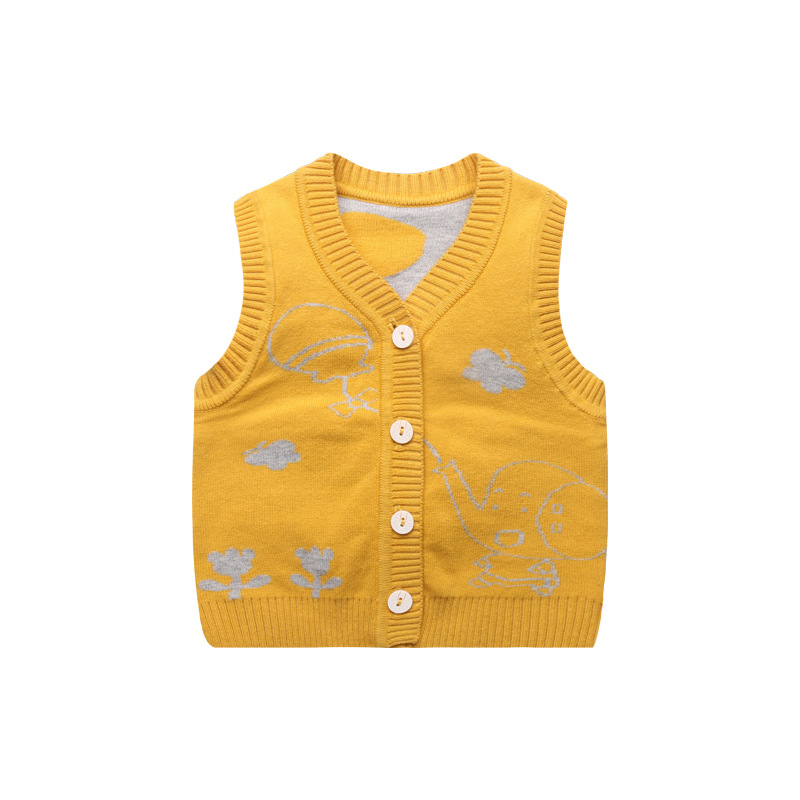 4625d2a93901 Giraffe Cute Baby Sweater Vest V Neck Baby Boys Knitted Vest ...