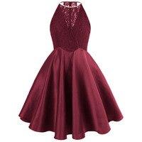 ангел-моды короткие платье для выпускного, на бретельках бисероплетение кружева видеть сквозь атласное бальное платье розовый синий 385