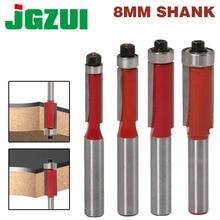 "1 pcs 8 ""Shank Flush Trim Router บิตสำหรับไม้ยาวตัด Cutters กับ bearing งานไม้เครื่องมือ endmill"