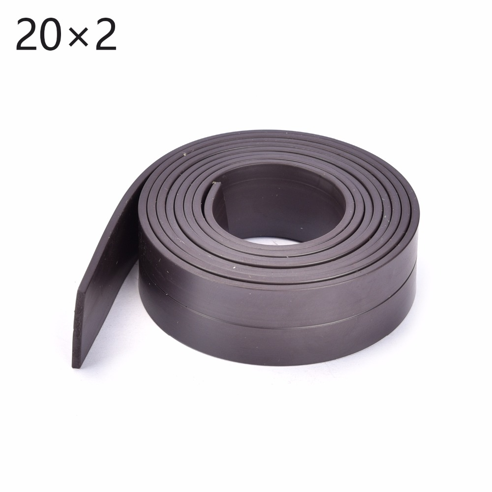 1Meters  Flexible Magnetic Strip 1M Rubber Magnet Tape width 20mm thickness 2mm 5pcs magnet sheet a4 thickness 1mm rubber magnetic strip tape flexible magnet diy craft tape