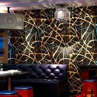 KTV Folha de Ouro Papel De Parede 3D À Prova D' Água Cor Da Moda Glitter Bar Salão Sala Fundo Decoração Da Parede Revestimento de Parede Rolo De Papel 3D
