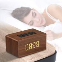 Wooden Wireless Bluetooth 4.2 Speaker Portable HiFi Shock Bass Altavoz TF caixa de som Soundbar for PHONE Alarm Clock Speaker