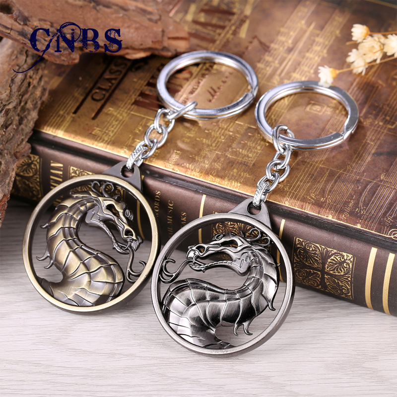 Dragon Keychain Hot Game Mortal Kombat Key Ring Metal Key Holder For Gift Chaveiro Key chain Jewelry for cars doctor who key chain tardis key rings for gift chaveiro car keychain jewelry movie key holder souvenir ys11116