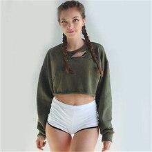 Sexy short blouse Summer long sleeve shi