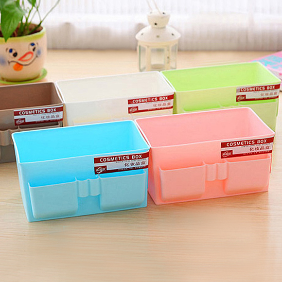 1pc Makeup Storage Box Office Desktop Stationery Jewelry Finishing Box Lipstick Remote Control Storage Box