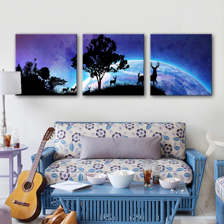 Drop Shipping Canvas Paintings Wall Art 3 Piece Decorative Modular