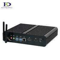 Grand старт безвентиляторный HTPC 7th Gen Core i7 7500U Мини ПК с HDMI DP SD Nuc ноутбук Kaby озеро Intel HD графика 620