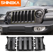 SHINEKA Racing Grills for Jeep Wrangler jl Accessories 2018 Front Grill Grille Mesh Cover Car Exterior Parts for Jeep JL 2018