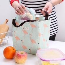 Изоляционные сумки для детского питания, подогреватель бутылочек для молока, сумка для мам с рисунком фламинго, переносная Термосумка для пикника