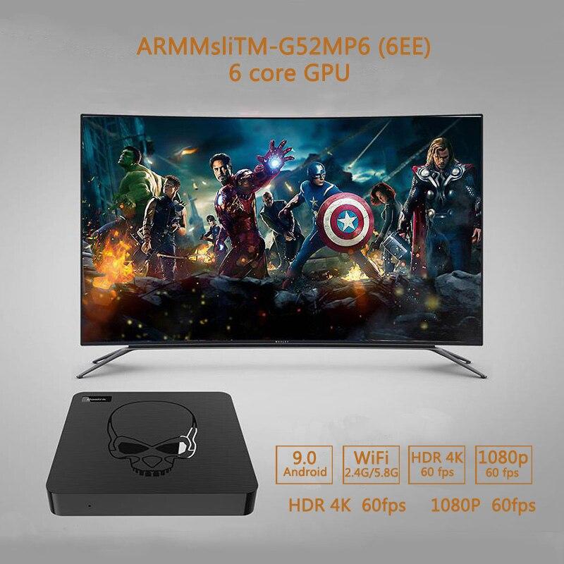 Beelink gt-king Android 9.0 TV BOX Amlogic S922X GT King 4G DDR4 64G EMMC Smart TV Box 2.4G + 5G double WIFI 1000M LAN avec 4K - 5