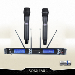 New High Quality Professional AXT200 True Diversity Handheld Wireless Microphone professional lavalier clip microphone headset