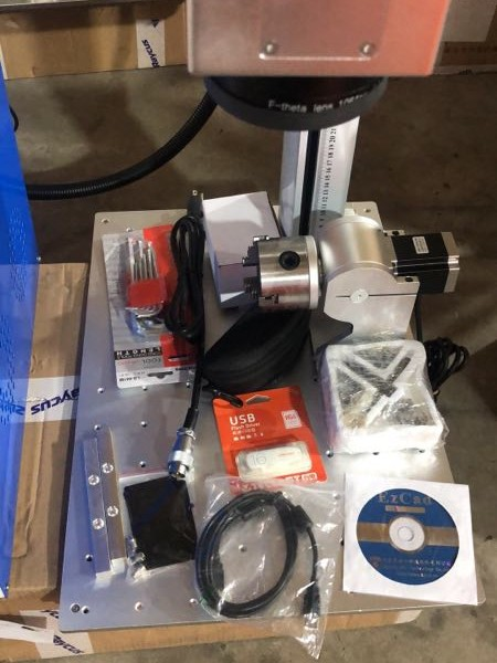 Fiber Laser Marking Machine With Rotary 30W Raycus Metal Engraving Machine 5