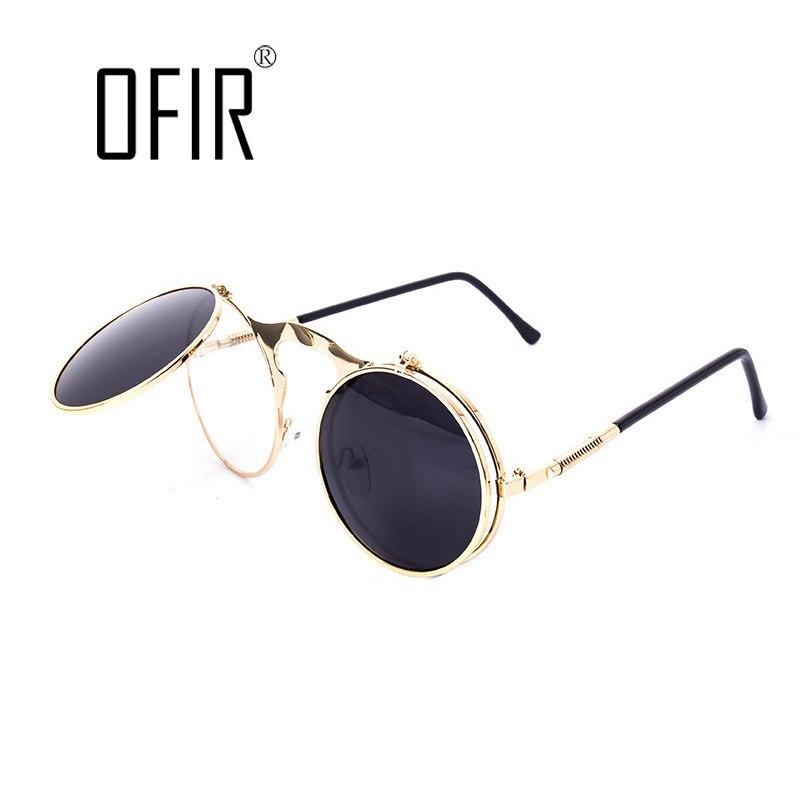 Designer de Óculos De Sol redondos STEAMPUNK punk do vapor de Metal óculos  de sol das mulheres REVESTIMENTO de ÓCULOS DE SOL Dos Homens Retro CIRCLE  ÓCULOS ... 071cbf4408