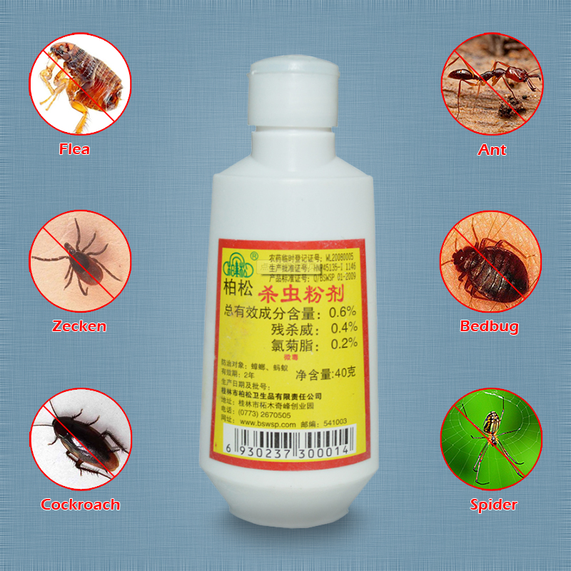 5 Bottles Insecticide Powder Ground Pet Insect Killer Touch Kill Flea Bed Bugs Louse Spider Ant Cockroach Home Pest Control