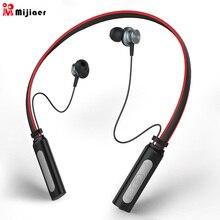 Mjiaer L9 Auricolare Senza Fili Neckband di Sport Super Bass Bluetooth  Cuffie Auricolari Impermeabili per il b8dc9346bdd7