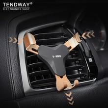 Tendway gravedad coche teléfono titular 360 grados de ventilación teléfono celular soporte Universal Auto gravedad teléfono móvil en coche