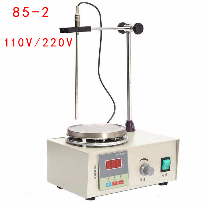 New Lab Magnetic Stirrer with Heating Control Plate Digital Display 85-2 Hotplate Mixer 220V/110V new 220v magnetic stirrer instrument temperature dispay with heating plate hotplate mixer