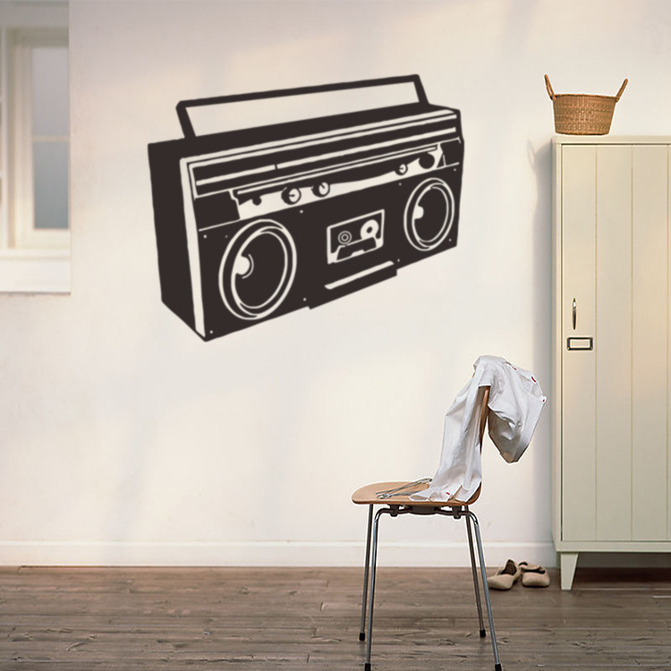 Old Fashioned Radio Vinyl Wall Decal Home Decor Living Room Diy Art Mural Removable Wall Stickers Wall Sticker Removable Wall Stickersvinyl Wall Decals Aliexpress
