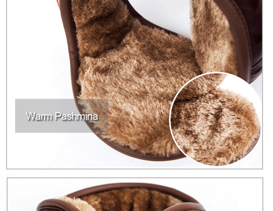 Saint Barthelemy Asia National Emblem Winter Earmuffs Ear Warmers Faux Fur Foldable Plush Outdoor Gift