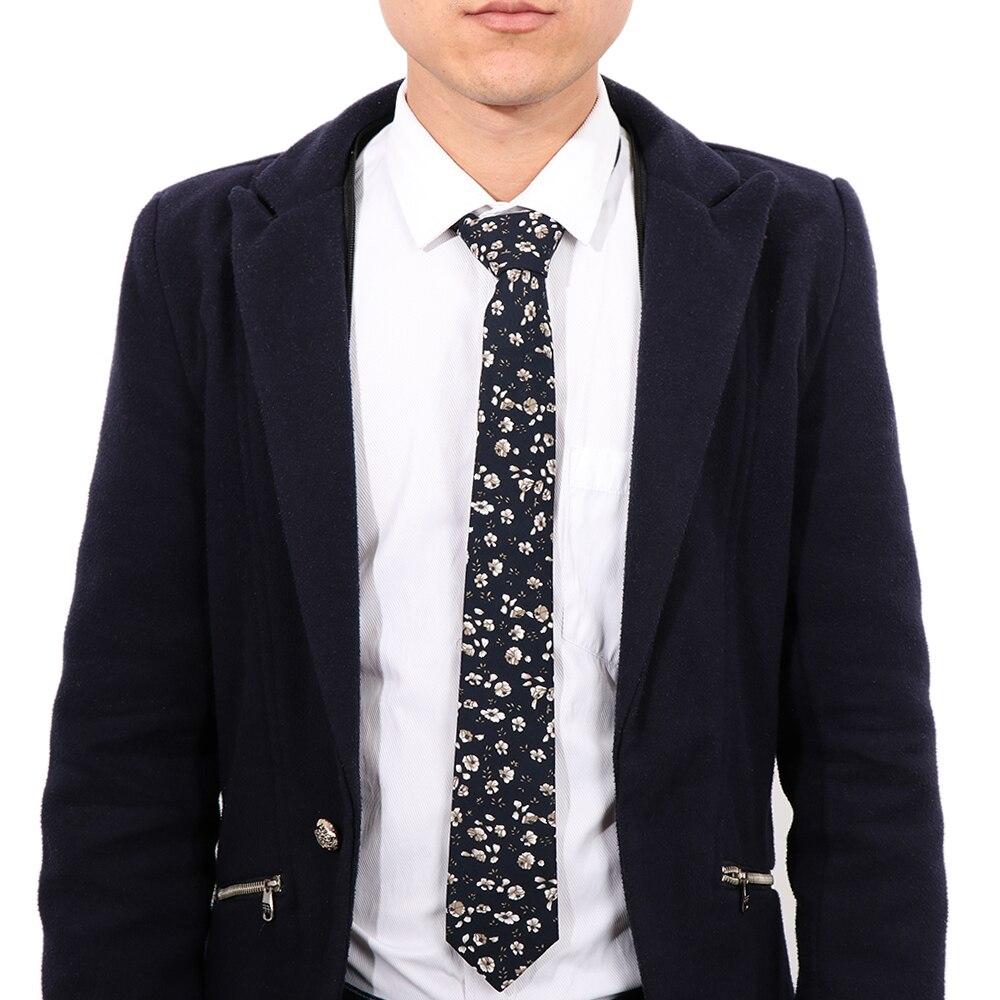 1 Pcs Flower Neck Ties For Men Skinny Ties Slim Wedding Party Christmas Gifts Cotton Groom Neck Tie Cravat Necktie