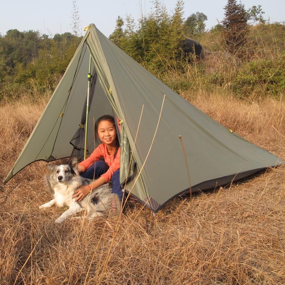 AXEMEN Black Hawk Ultra Doppelschicht 1 2 personen Berg kolbenstangenlosen Garn Zelt Outdoor Camping - 2