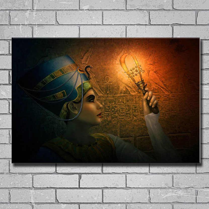 Y052 Egito Rainha Nefertiti Fantasia Arte 14x21 24x36 27x40 Polegadas Art Silk Poster Print Etiqueta Da Parede Da lona