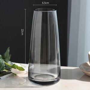 Image 4 - אירופה זכוכית פרח אגרטל הבית מודרני קישוט שולחן אגרטל לחתונה אביזרי קישוט