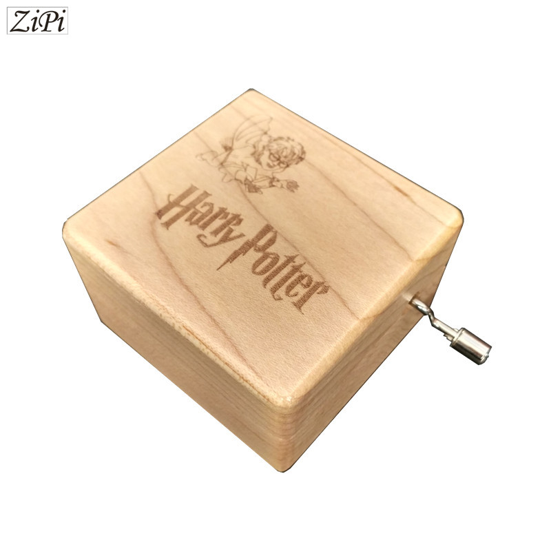 harry potter hand engraved wooden cartoon music box theme song gift for chirstmas happy birthday gift new year children gift
