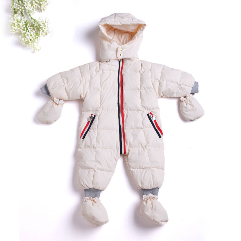 ФОТО 2017 Jumpsuit Children's Clothing Baby Coats Jackets Boys Duck Snowsuit Girls Newborn Snow Suits Infant Wear For Easter Clothes