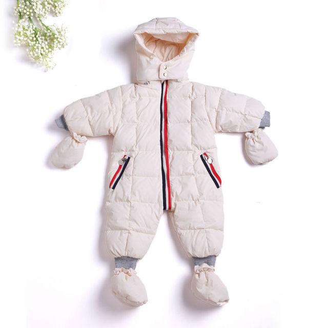 2017 clothing jumpsuit das crianças casacos casacos meninos pato snowsuit meninas recém-nascidas do bebê ternos neve desgaste infantil para bebês roupas