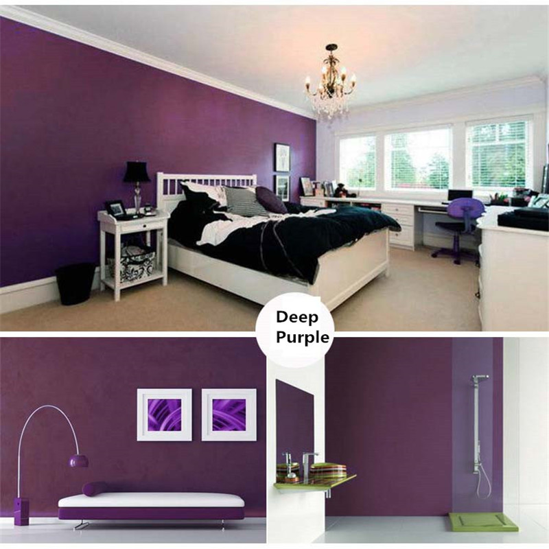 Modern 3D Wallpaper Living Room Wallpaper PVC Pure Color Deep Purple Waterproof Chinese Wallpaper For Study Bedroom TV Wall цена