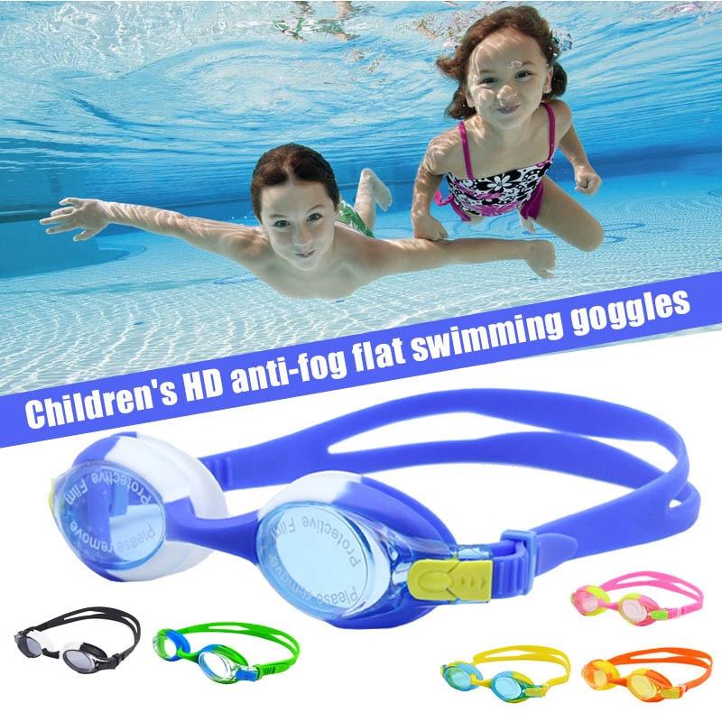 Enfants lunettes de natation enfants Silicone
