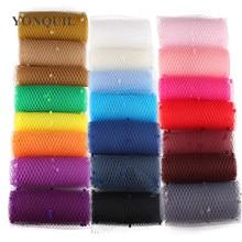 Несколько цветов микс точка Клетка вуаль 25 см ширина millinery вуали DIY аксессуары для волос шляпа Свадебная сетка вечерние головные уборы