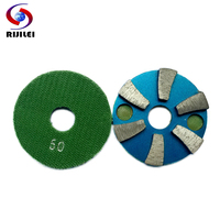 3JKP6 Free Shipping 80mm 3 Inch Metal Grinding Pads For Concrete Rough Grinding Diamond Polishing