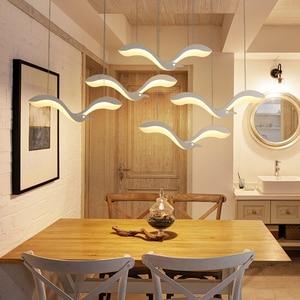 Image 2 - 創造現代のledペンダントシャンデリアライトdiningroomキッチンフロントデスクサスペンション照明器具suspendu ledシャンデリア