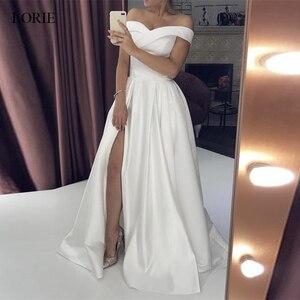 Image 2 - LORIE boho düğün elbisesi 2019 aplikler Dantel tül vestido de casamento prenses gelinlikler Romatic Gelin Elbise parti elbise