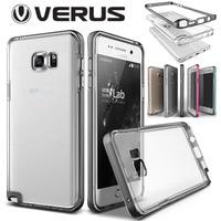 Original VERUS For Samsung Galaxy Note 5 Crystal Slim Case Dual Layer Hybrid Hard Frame Soft