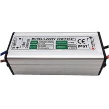 цена на 5pcs LED Driver 600mA 20W AC85V-265V to DC 30-36V Switch Adapter Transformer Power Supply IP67 For LED Floodlight spotlight lamp